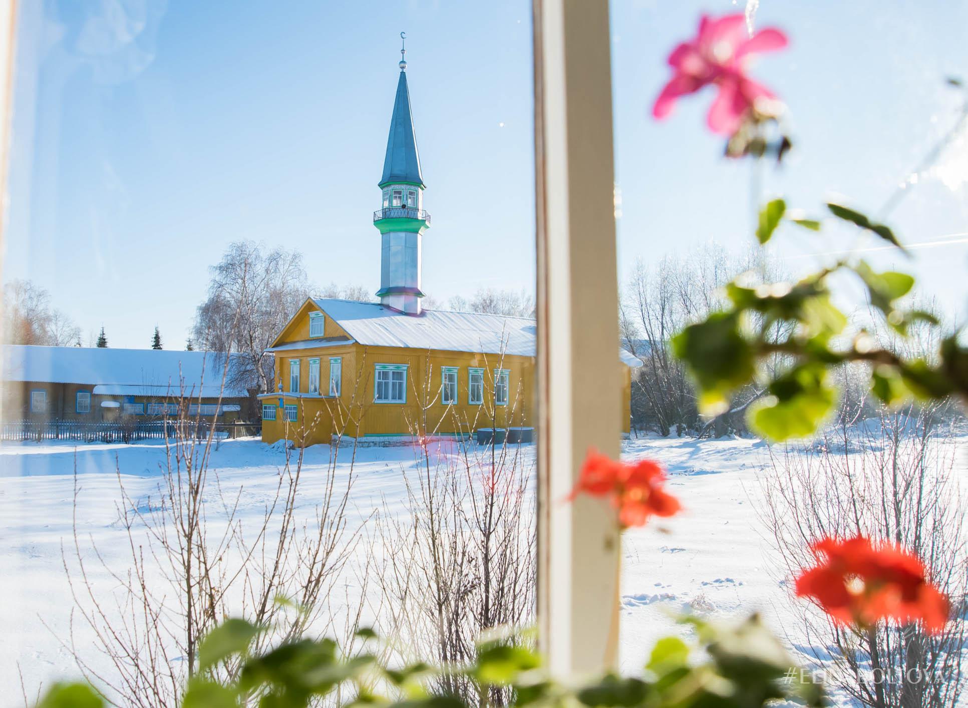Мечеть за окном